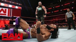 Braun Strowman vs. Jinder Mahal: Raw, Aug. 6, 2018