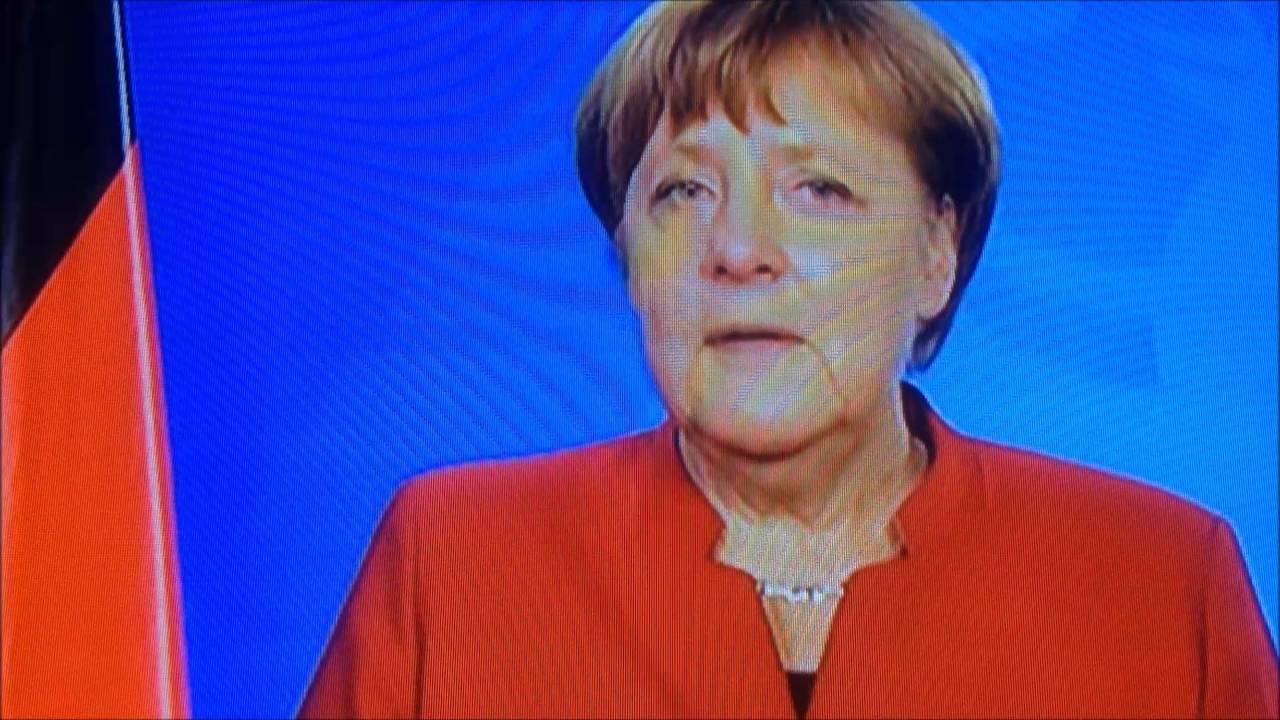 Angela Merkel gratuliert Kardinal Karl Lehmann Bischof von Mainz zum 80. Geburtstag