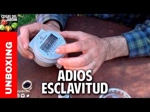 Unboxing Programador de riego automatico con panel solar @cosasdeljardin