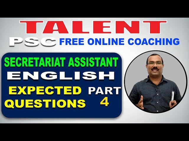 KERALA PSC | Degree Level | Secretariat Assistant | ENGLISH | EXPECTED QUESTIONS-4