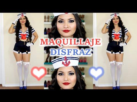 Disfraz de Sexy Marinera 🎃 Maquillaje y disfraces Sailor Pin-up 👻 Bessy Dressy