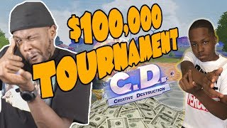 $100,000 Creative Destruction Tournament Prep w/ Annoying Little Bro! | Creative Destruction Duos