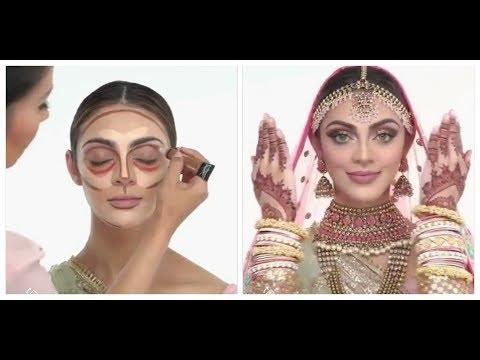 Bridal Makeup /How to contour Full Face /makeup tutorial