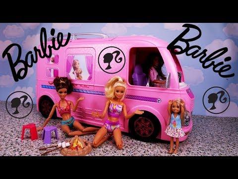 BARBIE OPENBOX 🎁 Kamper  Barbie Super Campervan 🎁 Otwieramy i bawimy się lalkami Opening