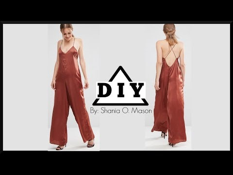DIY How to make a silky satin jumpsuit || SHANiA DIY