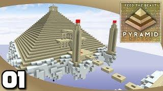 FTB Pyramid Reborn - Ep. 1: A New Challenge! | Minecraft Modded Survival Challenge Map
