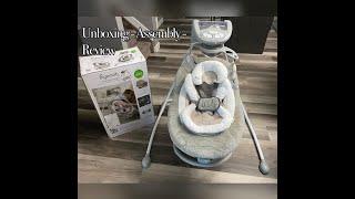 Ingenuity DreamComfort Inlighten Cradling Swing & Rocker - Townsend | Unboxing - Assembly - Review