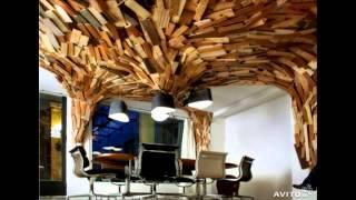 Лучшие и необычные интерьеры из дерева