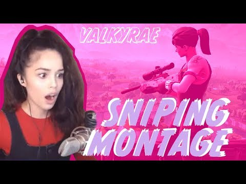 Valkyrae - SNIPES ONLY! 1st Fortnite Sniping Montage! [PC]