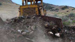 TD 25 International Bulldozer Doing Work
