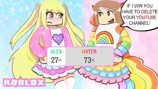 My Hater And I Made Cute Outfits and Let My Fans Choose Who Did It Better...   Roblox