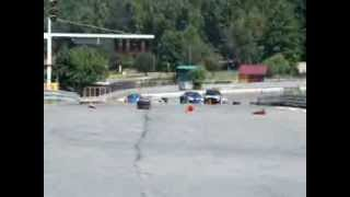 preview picture of video 'Subaru Impreza WRX STi handbreak, u-turn and powerslide (Tor Kielce, Miedziana Góra)'