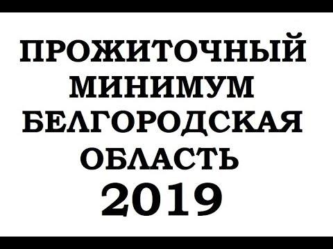 ПРОЖИТОЧНЫЙ МИНИМУМ В БЕЛГОРОДСКОЙ ОБЛАСТИ 2019