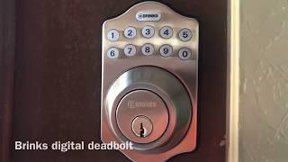Brinks digital deadbolt programming setup help