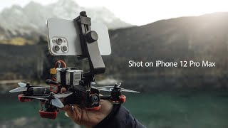 IPhone 12 Pro Max on an cinematic FPV drone I (Lake Eibsee)