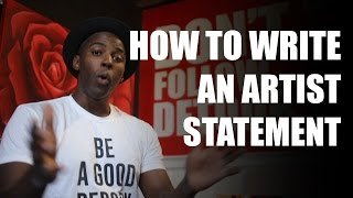 How to write an artist statement for artists and creatives