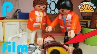 FAMILIE Bergmann 14  UNFALL Auf TREPPE NOTARZT Kommt  Playmobil Film Deutsch Geschichte