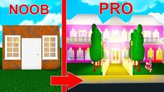 bloxburg build off noob vs pro - TH-Clip