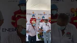 Alcalde José Posuelos inaugura la brigada de Energuate para atender emergencias