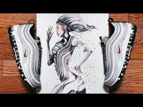 Reina Koyano Transforms Sneakers into Pin-Up Art