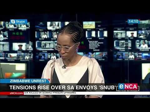 Tensions rise in Zim over SA envoy snub – Tendai Biti speaks to eNCA