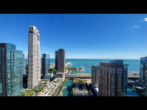 An east-view -09 studio at Streeterville's North Water apartments