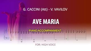 Ave Maria / Karaoke piano / Caccini (Att) -Vladimir Vavilov / High voice