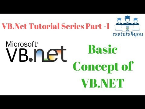 VB Net Tutorial Series Part-1 Basic Concept of VB.NET