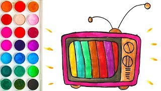 Drawings of TV for Toddler, Easy Drawing for Toddlers