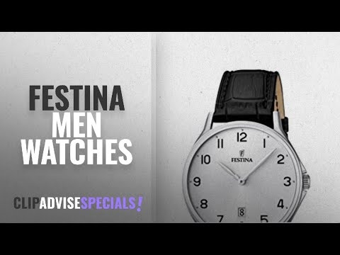 10 Best Selling Festina Men Watches [2018 ]: Festina Men's Quartz Watch with White Dial Analogue