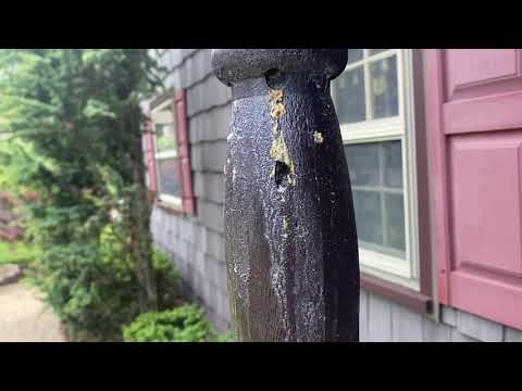Pillar Destroyed by Carpenter Bees in Freehold, NJ