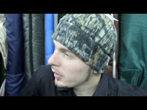 Камуфляжная шапка из флиса. Видеообзор.