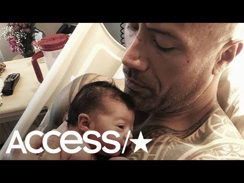 Dwayne Johnson's Most Adorable Dad Moments Ever | Access (видео)