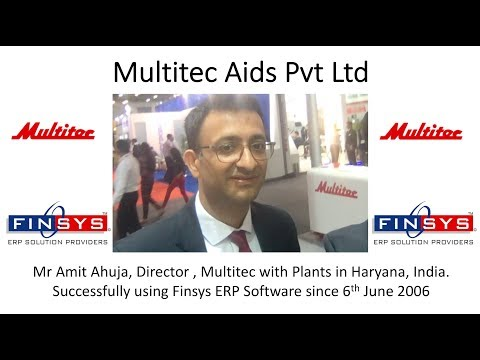 Multitec Aids Faridabad - Top Label Machine Manufacturers in India, Avid Finsys ERP user-