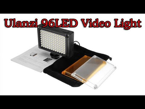 Ulanzi 96LED Video Light Hands on and review - Banggood.com