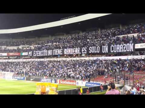 """""""Recibimiento vs Tigres (semis de concachampions)"""" Barra: La Resistencia Albiazul • Club: Querétaro"""