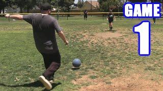 MY FIRST KICKBALL HOME RUN! | On-Season Kickball Series | Game 1