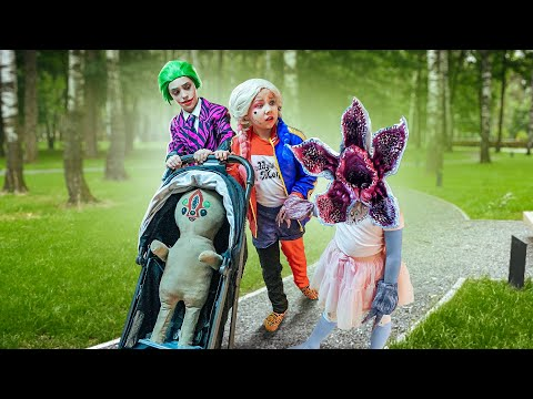 SCP СТАЛИ ДЕТЬМИ! Супергерои КАК НЯНЬКИ СИРЕНОГОЛОВОГО! Харли Квинн попала в семью Сиреноголового!