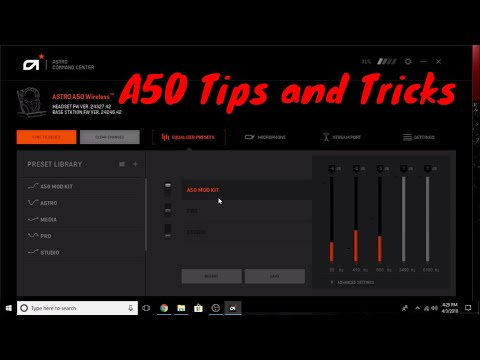 My Astro A40 PUBG Settings and some Pubg Xbox sound advice
