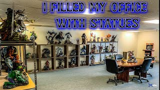HUGE Man Cave STATUE ROOM Tour At Work!!