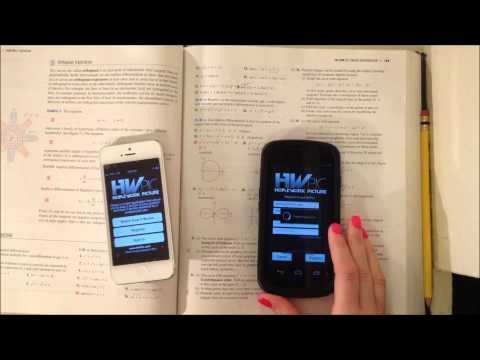 Video of HwPic Homework Tutor