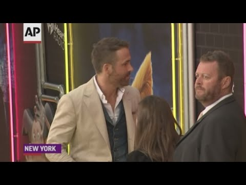 """Actor Ryan Reynolds jokes about hiding behind Pikachu at the US premiere of """"Pokémon Detective Pikachu,"""" and says he will not be attending the Met Gala. (May 3)"""