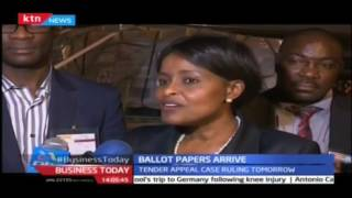 First consignment of the ballot papers  for August poll arrive