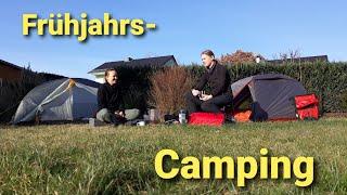 Frühling im Februar -  Radtour mit Camping und Outdoorküche