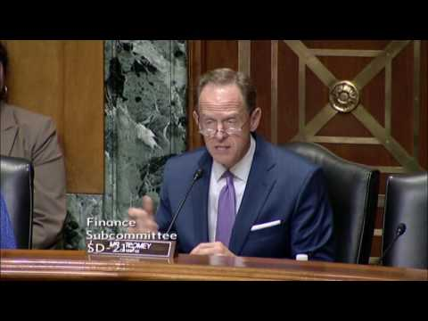 Sen. Toomey Chairs Finance Subcommittee Hearing on Alzheimer's