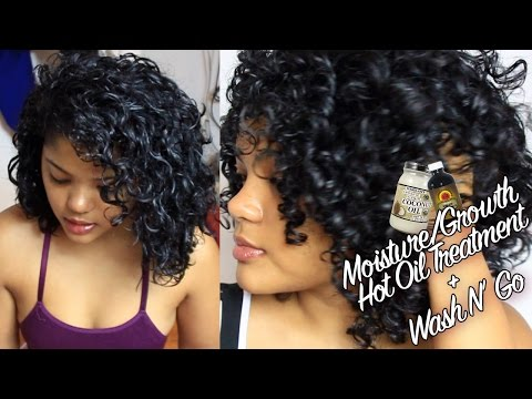 Video Curly Hair Moisture/Growth Hot Oil Treatment & Styling