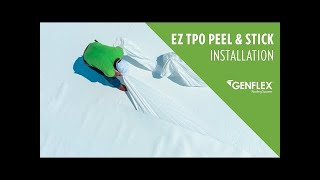 Installation of GenFlex EZ TPO Peel & Stick