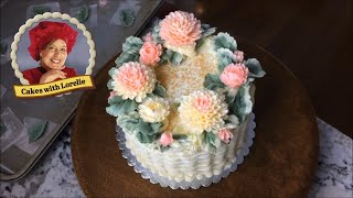 Buttercream Cake Decorating 💮 A Basket Of Buttercream Mums 🍰 Cakes With Lorelie