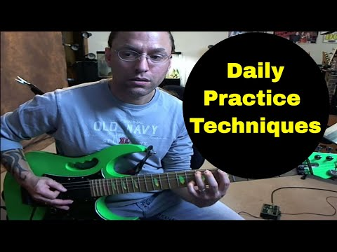 Steve Stine Guitar Lesson - Fundamental Daily Practice Techniques for Electric Guitar