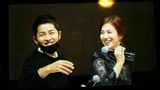 Song Joong Ki & Song Hye Kyo Sweetest Moments @ Song Hye Kyo 20th Anniversary Fanmeeting